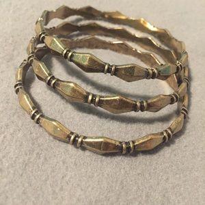 NWT antique gold bangle set of 3